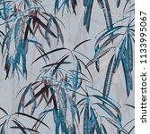 exotic leaves seamless pattern. ... | Shutterstock . vector #1133995067