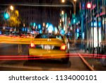 late night taxi nyc   Shutterstock . vector #1134000101