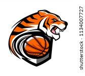 tiger basketball team logo   Shutterstock .eps vector #1134007727