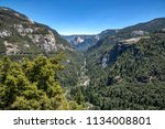 valley view of yosemite... | Shutterstock . vector #1134008801