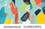 creative doodle art header with ... | Shutterstock .eps vector #1134013931