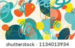 creative doodle art header with ... | Shutterstock .eps vector #1134013934