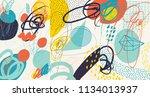 creative doodle art header with ... | Shutterstock .eps vector #1134013937