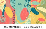creative doodle art header with ... | Shutterstock .eps vector #1134013964