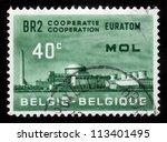 belgium   circa 1961  a stamp... | Shutterstock . vector #113401495