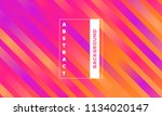 lines with colorful gradient.... | Shutterstock .eps vector #1134020147