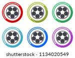 soccer web vector icons  set of ... | Shutterstock .eps vector #1134020549