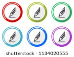 pencil web vector icons  set of ... | Shutterstock .eps vector #1134020555