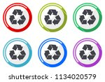 recycle web vector icons  set... | Shutterstock .eps vector #1134020579