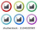 histogram web vector icons  set ... | Shutterstock .eps vector #1134020585