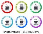 espresso web vector icons  set... | Shutterstock .eps vector #1134020591