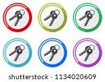 keys web vector icons  set of... | Shutterstock .eps vector #1134020609