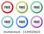 free web vector icons  set of... | Shutterstock .eps vector #1134020621