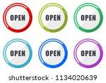 open web vector icons  set of... | Shutterstock .eps vector #1134020639