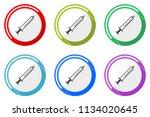 medicine web vector icons  set... | Shutterstock .eps vector #1134020645