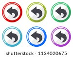 back web vector icons  set of... | Shutterstock .eps vector #1134020675