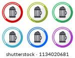 beer web vector icons  set of... | Shutterstock .eps vector #1134020681