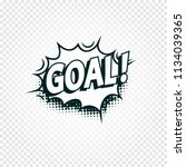 goal icon comics cloud with... | Shutterstock .eps vector #1134039365