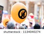 london  uk   july 14th 2018  an ... | Shutterstock . vector #1134040274