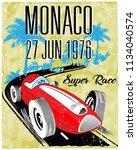 vintage car photo print poster... | Shutterstock . vector #1134040574