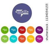 smart media icons color set... | Shutterstock .eps vector #1134054155