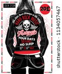 hard rock festival poster.... | Shutterstock .eps vector #1134057467