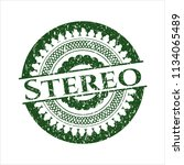 green stereo distressed grunge... | Shutterstock .eps vector #1134065489