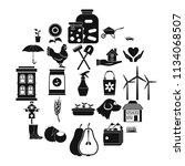 grange icons set. simple set of ... | Shutterstock .eps vector #1134068507