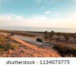 californian road near pacific... | Shutterstock . vector #1134073775