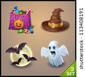 halloween icons set 2 | Shutterstock .eps vector #113408191