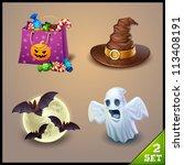 halloween icons set 2 | Shutterstock .eps vector #113408191