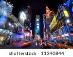 new york city   times square ... | Shutterstock . vector #11340844