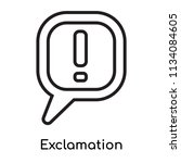 exclamation icon vector... | Shutterstock .eps vector #1134084605