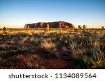 ayers rock uluru | Shutterstock . vector #1134089564