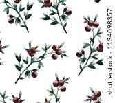 watercolor seamless pattern of...   Shutterstock . vector #1134098357