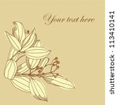 graphic plants  cinnamon  ... | Shutterstock .eps vector #113410141