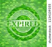 expired green emblem. mosaic... | Shutterstock .eps vector #1134109355