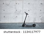 electric scooter on the white... | Shutterstock . vector #1134117977
