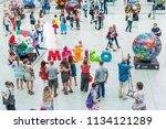 moscow  russia   june 29  2018  ...   Shutterstock . vector #1134121289
