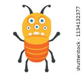 a monster with ant shape... | Shutterstock .eps vector #1134132377