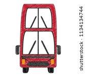 london double decker bus... | Shutterstock .eps vector #1134134744