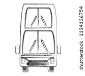 london double decker bus... | Shutterstock .eps vector #1134136754