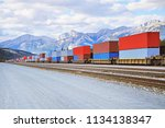 Freight Comtainer Train In...