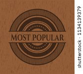 most popular retro style wooden ... | Shutterstock .eps vector #1134139379