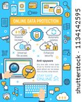 online data protection and... | Shutterstock .eps vector #1134142595