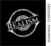 realism chalk emblem written on ... | Shutterstock .eps vector #1134143261