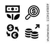 filled money icon set such as... | Shutterstock .eps vector #1134145859