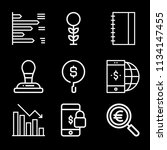 outline business icon set such... | Shutterstock .eps vector #1134147455