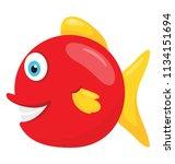 a freshwater predatory red...   Shutterstock .eps vector #1134151694