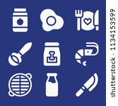 filled food icon set such as... | Shutterstock .eps vector #1134153599